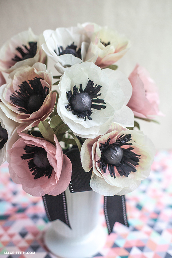 Paper Flowers Tissue Anemones for Wedding