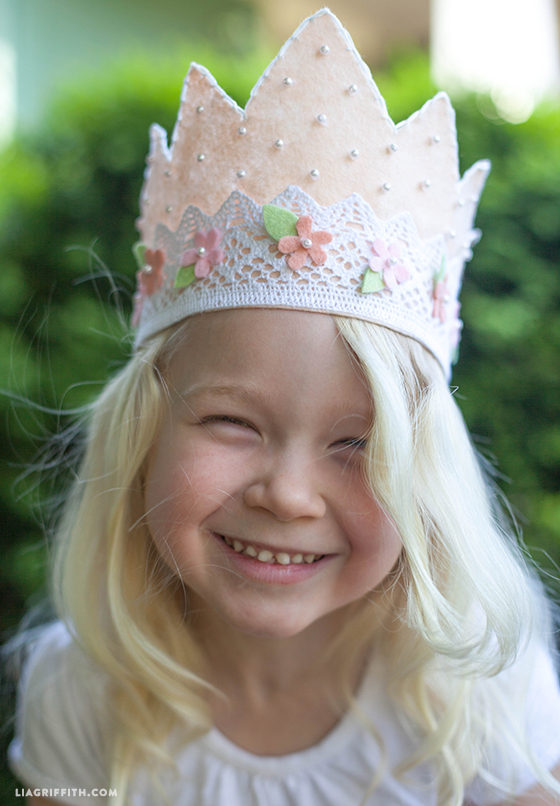 Pink Felt Crown for Your Little Princess