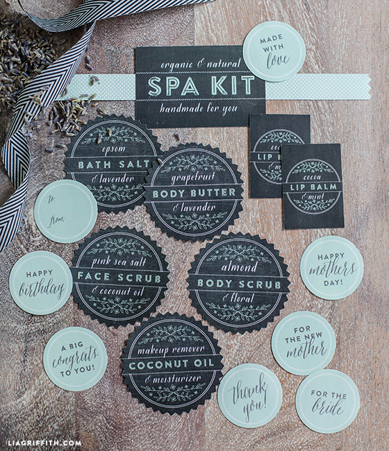 Printable_Spa_Kit_Labels_Black_Mint