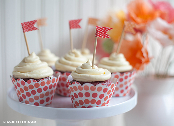 gluten-free red velvet cupcakes on cupcake tray