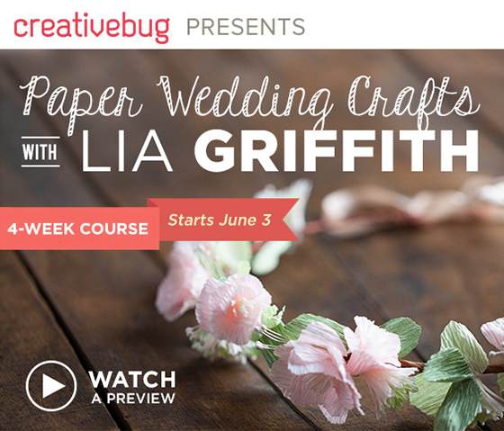 DIY Paper Wedding Crafts with Lia Griffith
