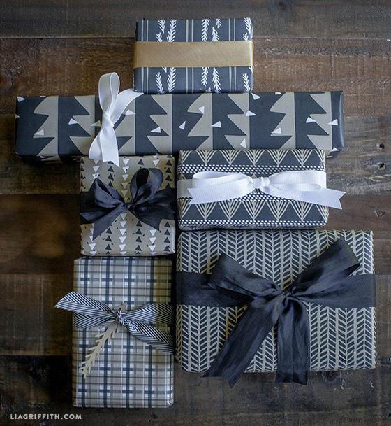 Graphic_Black_Tan_Gift_Wrap