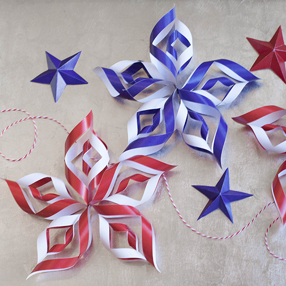 Diy paper stars for fourth of july for Diy paper stars
