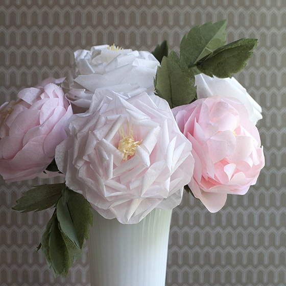 Make a tissue paper full bloom rose lia griffith mightylinksfo