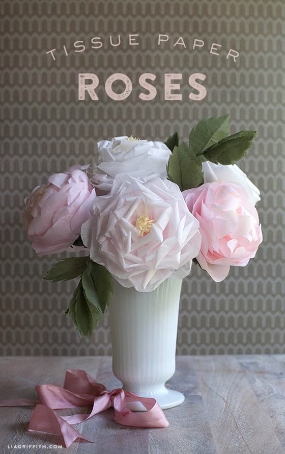 Make a tissue paper full bloom rose lia griffith tissuepaperrosesdiy i do realize i posted a tutorial for a crepe paper rose mightylinksfo