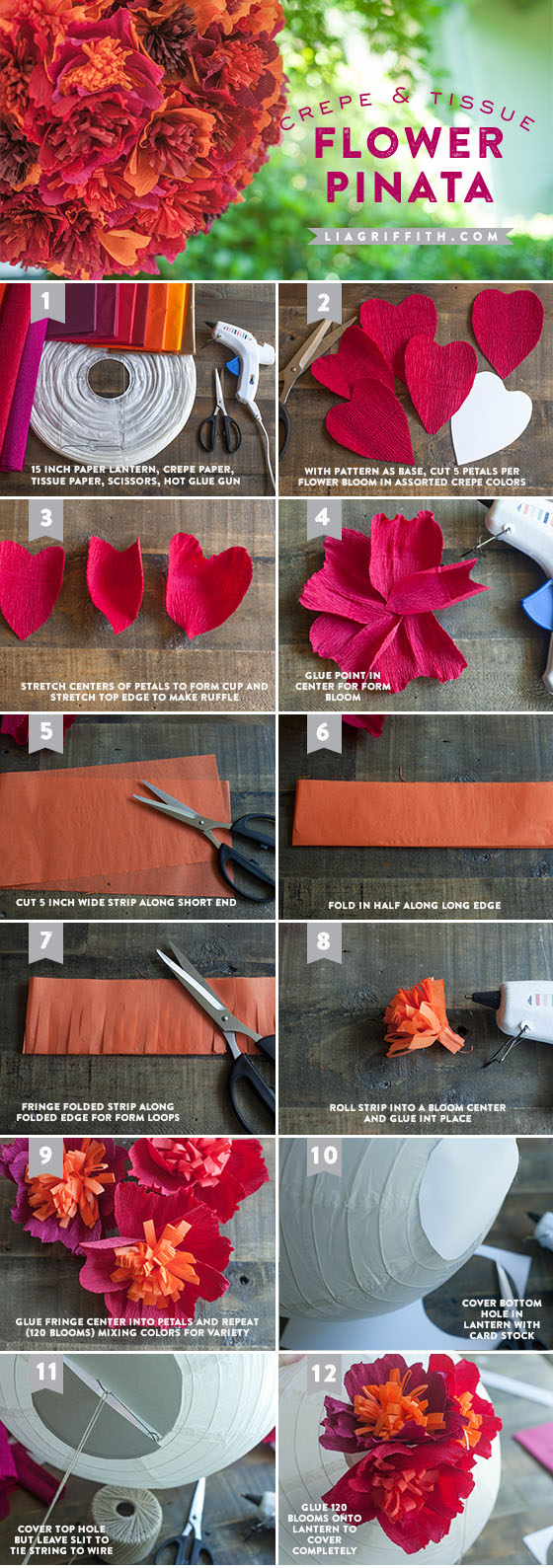Make A Paper Flower Pinata