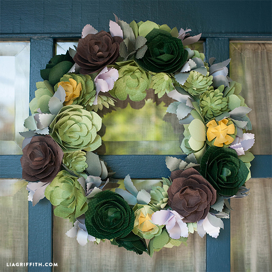 Paper_Succluent_DIY_Wreath