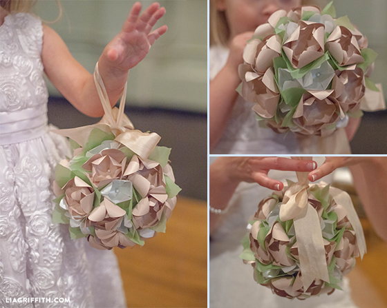 Diy paper flower wedding kissing balls paperflowerkissingball paperkissingtutorial paper flower kissing ball template mightylinksfo