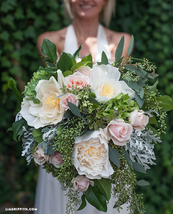 DIY Bridal Bouquet In Paper Wedding Flowers
