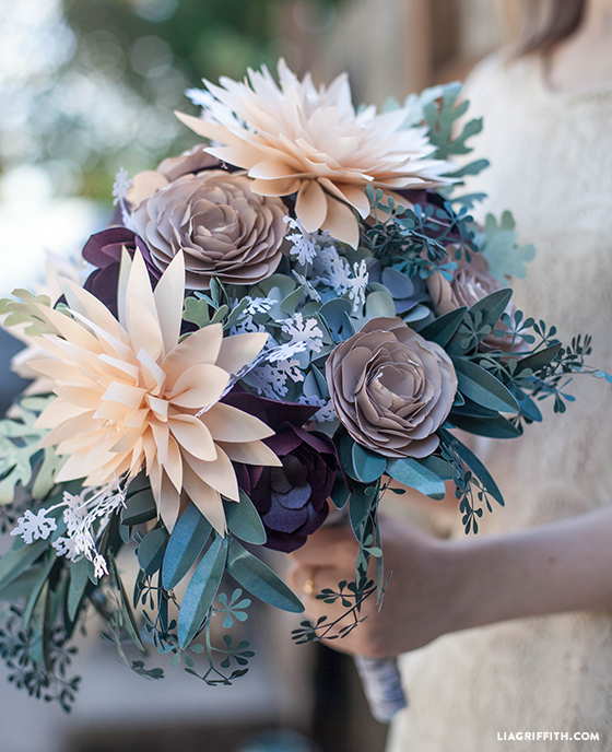 DIY Rustic Bridal Bouquet @LiaGriffith.com