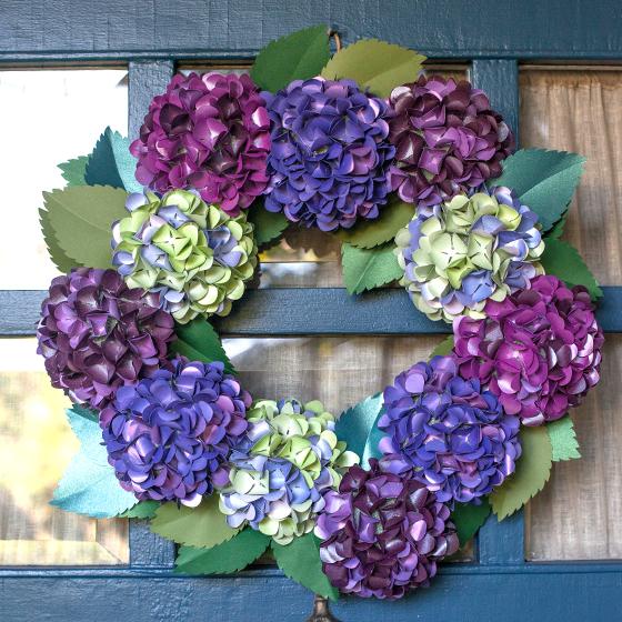 Diy Wedding Wreaths: DIY Paper Hydrangea Wreath