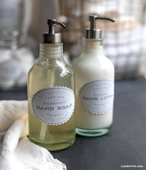 Printable Spa Labels in a French Laundry Style - Lia Griffith