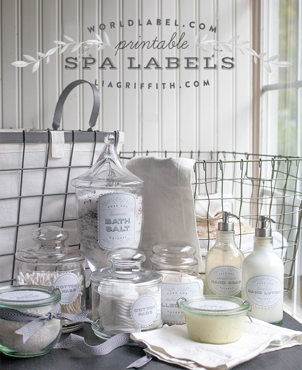 printable spa labels in a french laundry style lia griffith