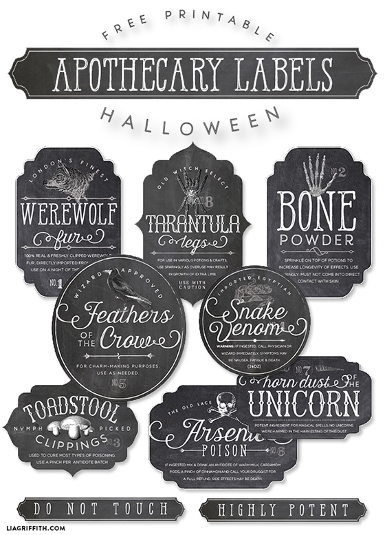 graphic regarding Free Printable Vintage Apothecary Labels known as Printable Apothecary labels for Halloween