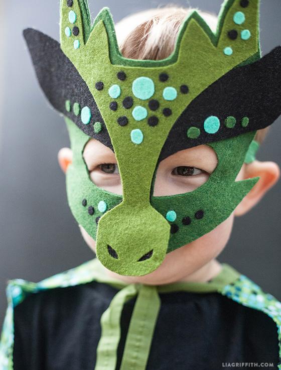 Homemade Halloween Costume No Sew Dragon Mask