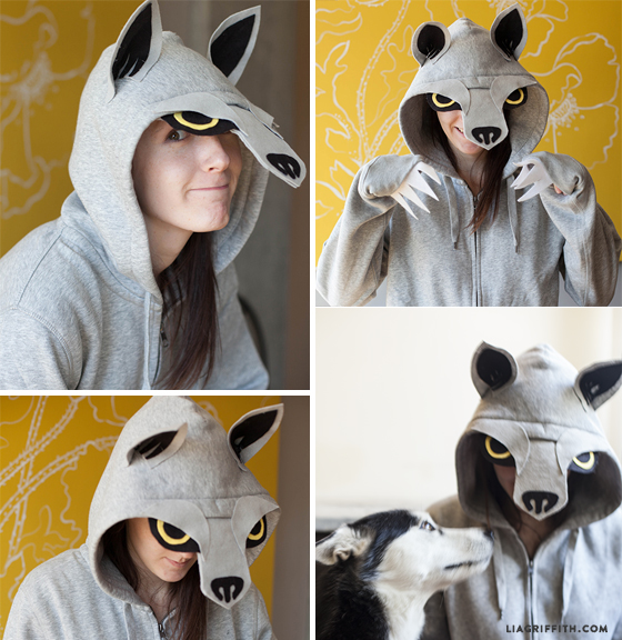 Homemade Halloween Costumes No Sew Wolf Shirt