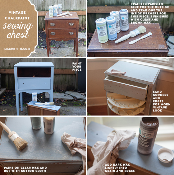 My Vintage Chalk Paint Sewing Chest Lia Griffith