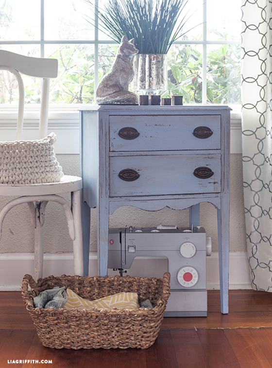 My vintage chalk paint sewing chest lia griffith upcycledsewingtalbechalkpaint watchthetrailerfo