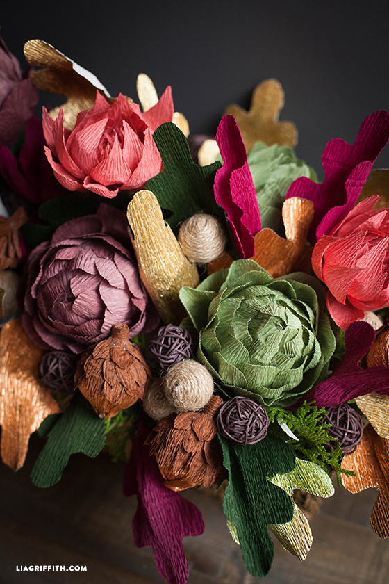 Crepe paper floral arrangement for your thanksgiving table crepearrangementforfall crepearrangementfall mightylinksfo