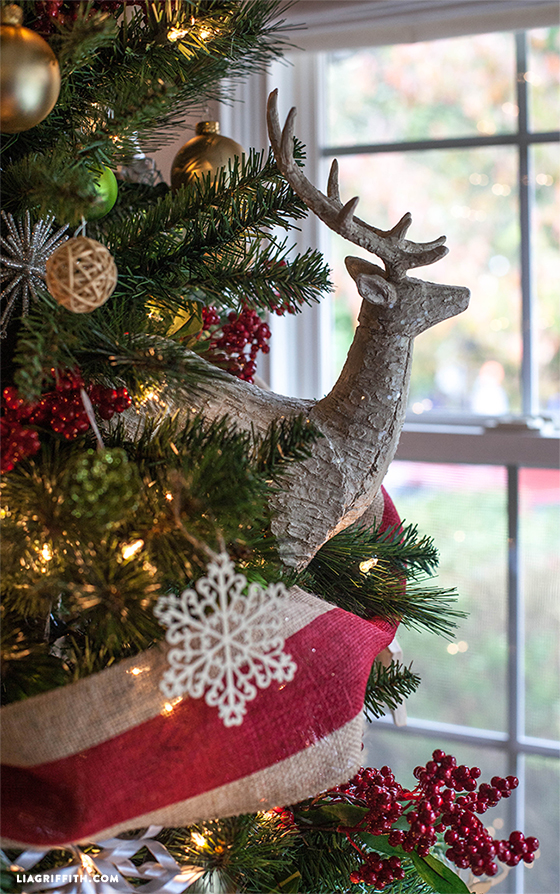 deer_tree_topper christmas_ornaments deer_christmas_tree reindeer_christmas_tree enzo_christmas_tree - Michaels Christmas Decorations