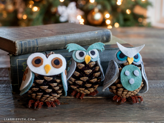 diy owl ornaments