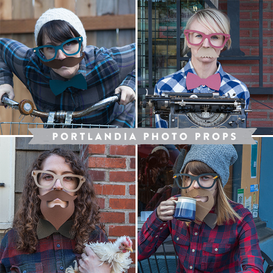 Photo Booth Props Portlandia Style Lia Griffith