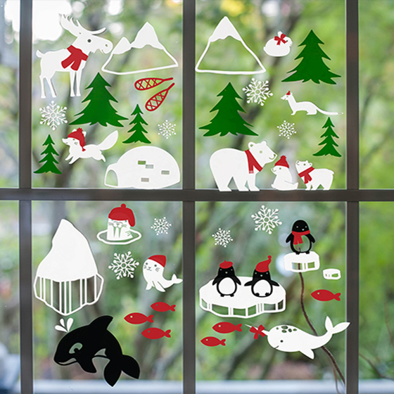 Winter Window Clings
