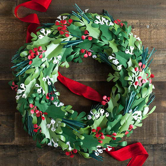Make A Paper Christmas Wreath Lia Griffith