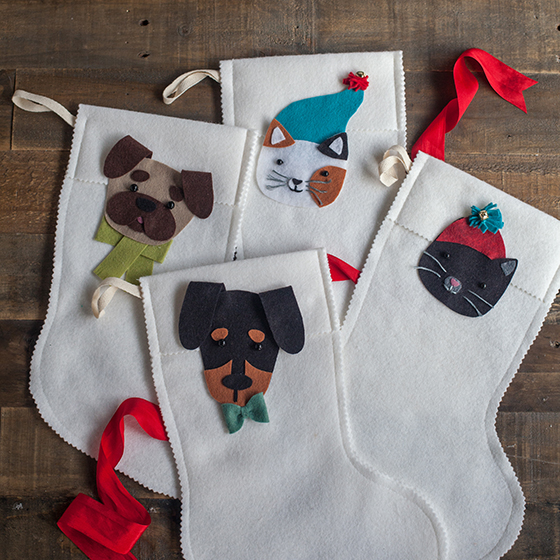 wool felt stocking for your pets lia griffith - Dog Stockings For Christmas