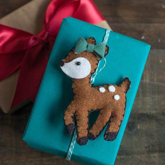 DIY Deer Felt Christmas Ornaments - Lia Griffith