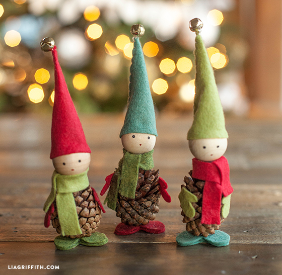d9616b013348 Video Tutorial  Felt and Pine Cone Elves - Lia Griffith