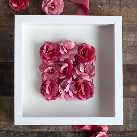 Mini Paper Rose Framed Artwork - Lia Griffith
