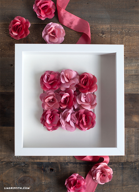Mini paper rose framed artwork lia griffith paperartrose mightylinksfo