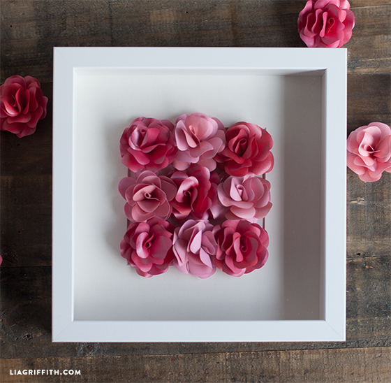 rose craft ideas mini paper framed artwork lia griffith 2855