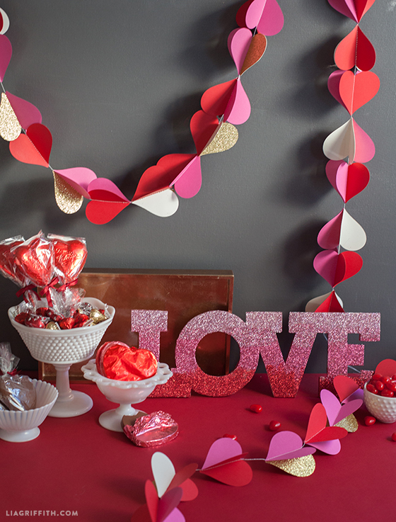 heart garland for valentine u0026 39 s day decor