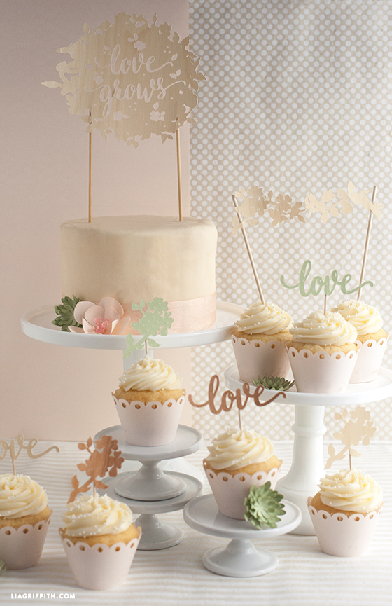 diy wedding cake decor diy wedding cake and cupcake topper lia griffith 13629