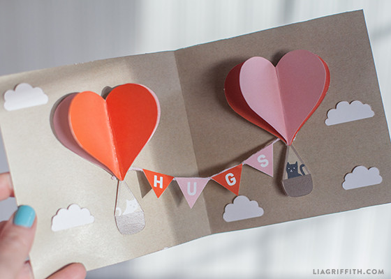 DIY Valentine PopUp Card Lia Griffith – Handmade Valentine Day Card