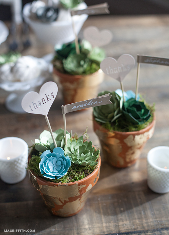 DIY Wedding Favors: Paper Succulent Pots - Lia Griffith
