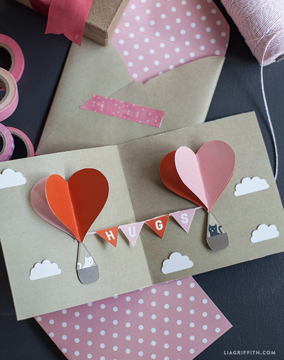 DIY Valentine PopUp Card Lia Griffith – Valentines Pop Up Card
