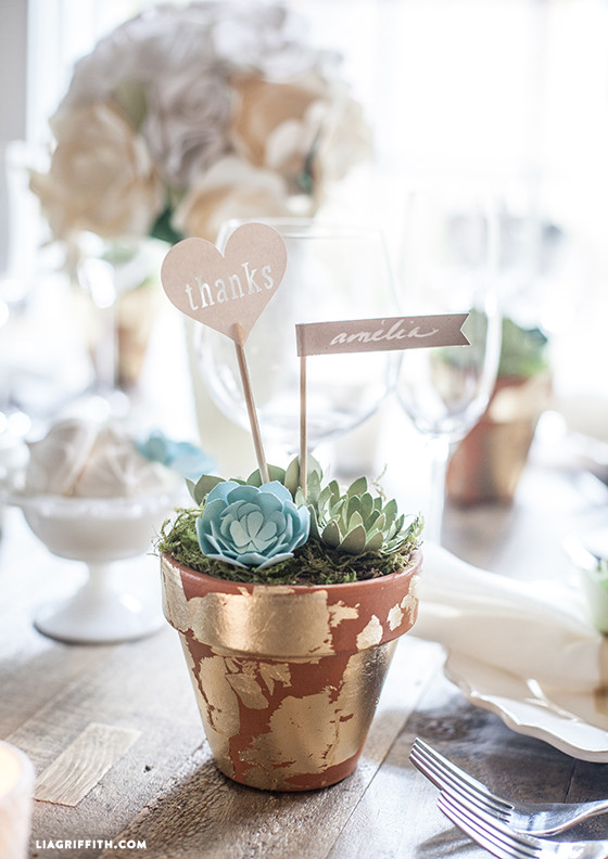 Diy Wedding Favors Paper Succulent Pots Lia Griffith