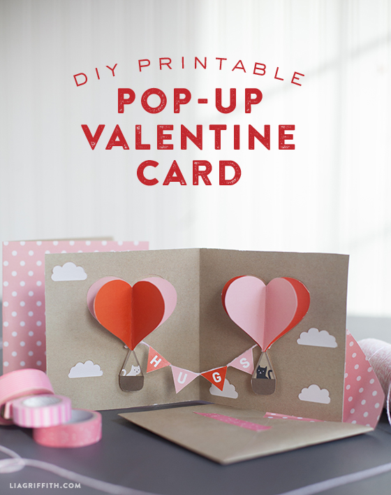 DIY Valentine PopUp Card Lia Griffith – How to Make Valentines Cards