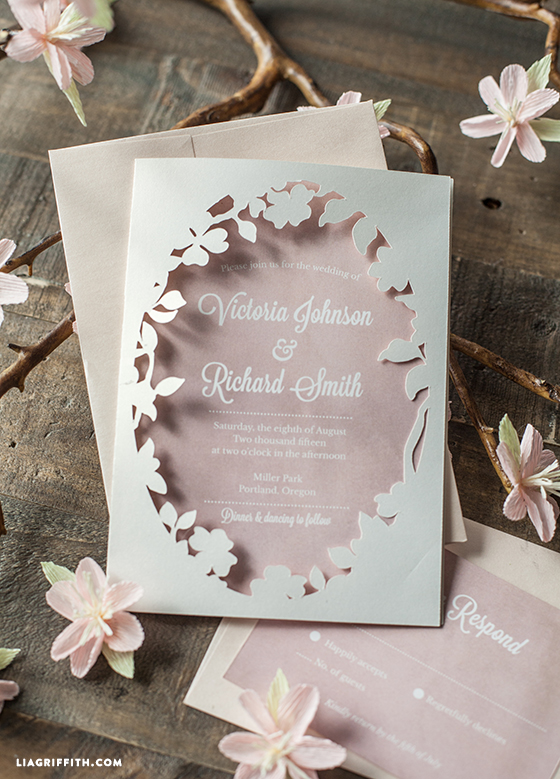 Spring Blossom Printable Wedding Invitations Lia Griffith