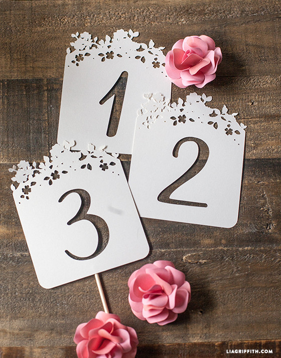 Diy wedding table numbers lia griffith for Table numbers