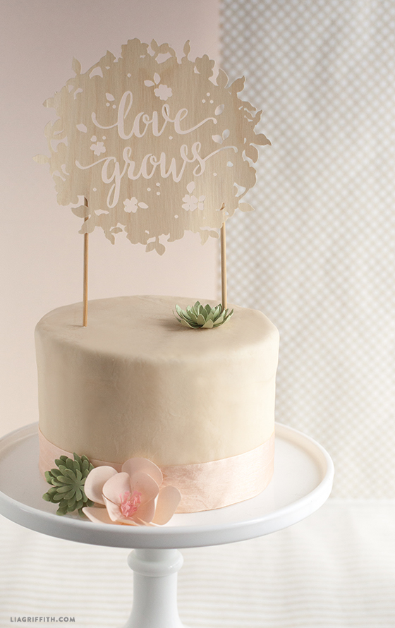 Cricut Maker Cake Topper Wood