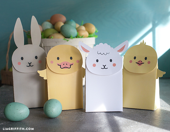 Make your own easter goodie bags lia griffith diy easter kraft negle Image collections