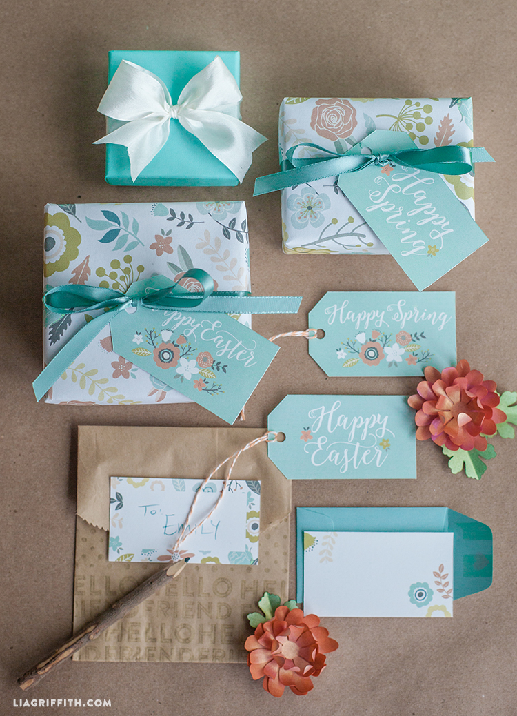 Printable gift wrap and tags for spring easter lia griffith okay i admit it we went hopping mad for easter this year but its been so much fun we have shared heaps of kids projects from the super popular candy negle Image collections