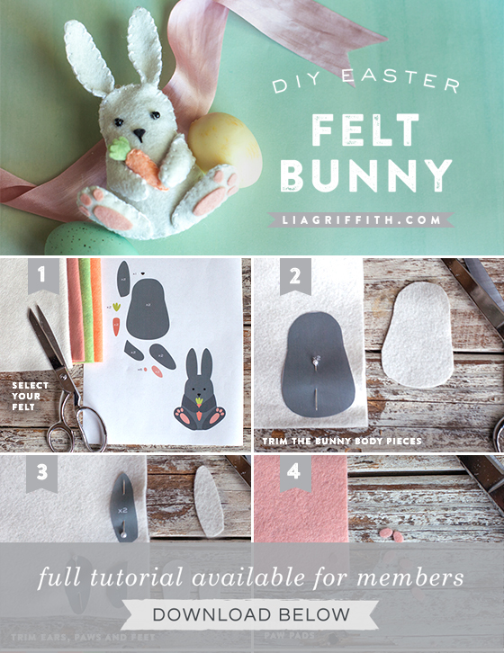 Felt Easter Bunny Pattern And Tutorial From Lia Griffith