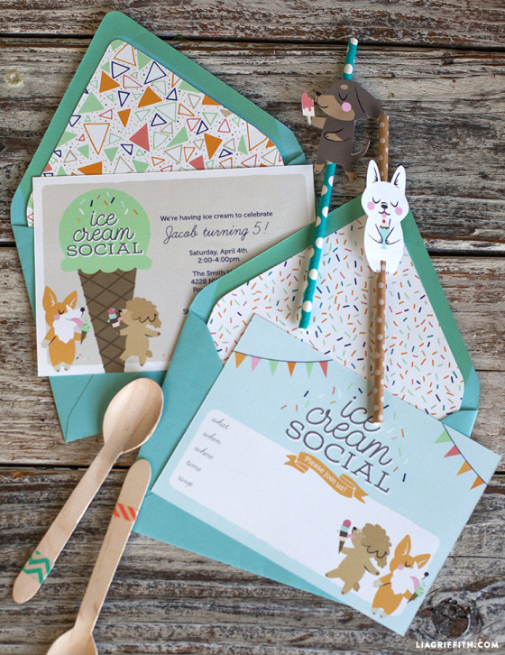 Ice_Cream_Social_Invitations_Envelope_Liners
