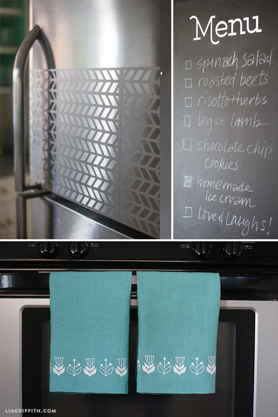 Lia_Griffith_Kitchen_Chalboard_Fridge_Towels