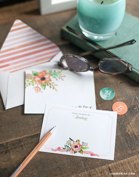 diy spring note cards lia griffith